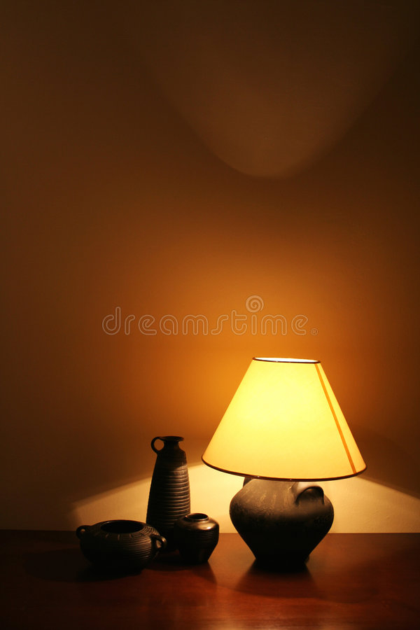 Download Table lamp stock photo. Image of dark, shade, glow, table - 225030