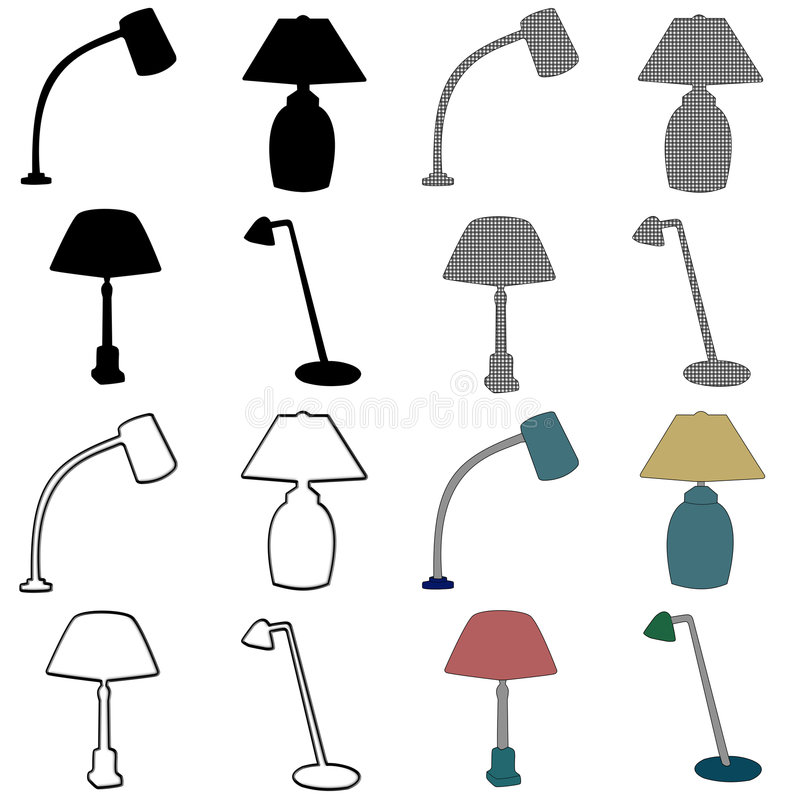 Download Table lamp stock illustration. Illustration of graphic - 5594200
