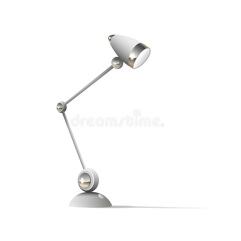 Table lamp isolated on white background vector illustration. Icon flat vector illustration