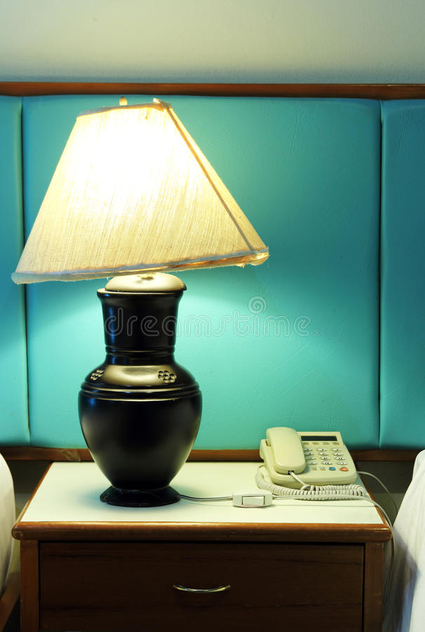 Download Table Lamp And Phone Royalty Free Stock Images - Image: 35306409
