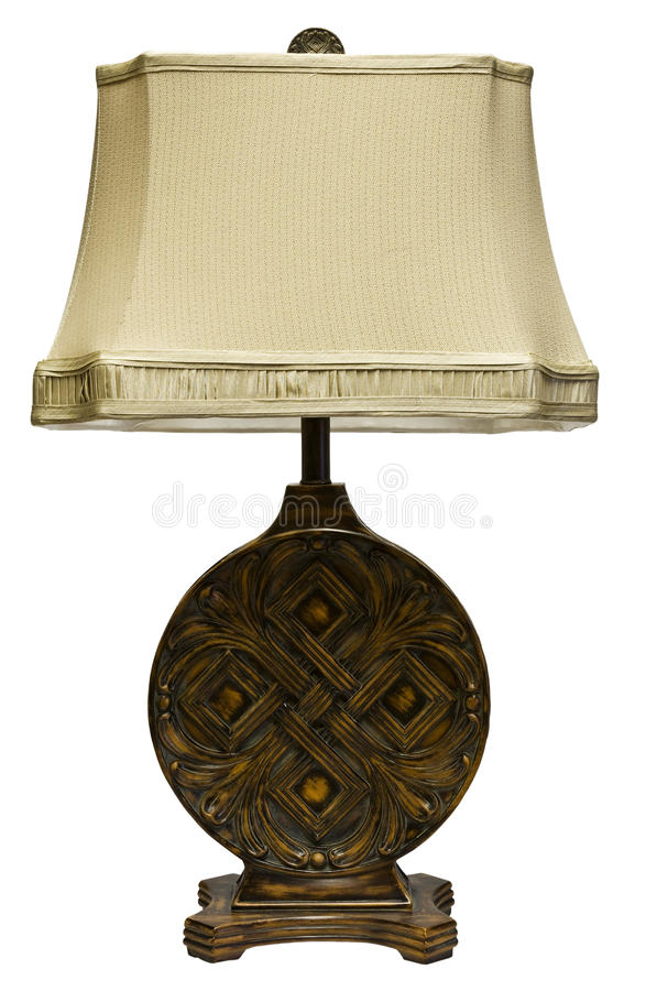 Download Table Lamp with Shade stock photo. Image of wood, furnishings - 9379238