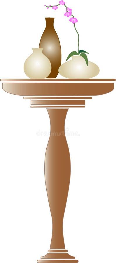 Table latérale illustration stock