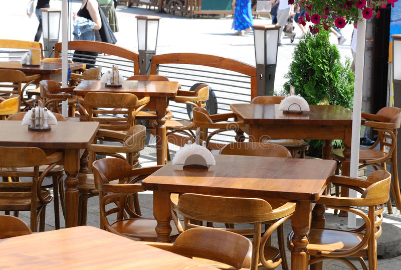 Download Table in little restaurant stock image. Image of still - 14850501