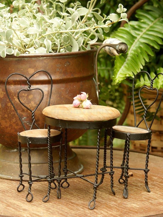 Table miniature de crême glacée et photographie stock