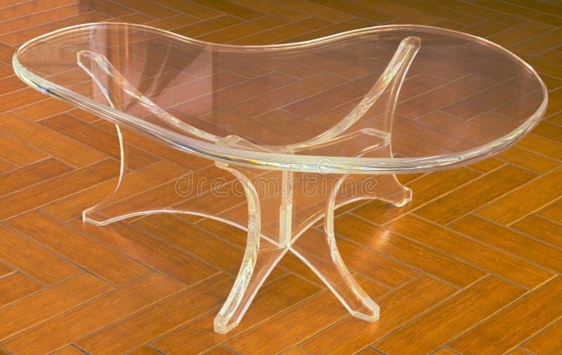 Table moderne acrylique claire de HDR photo libre de droits