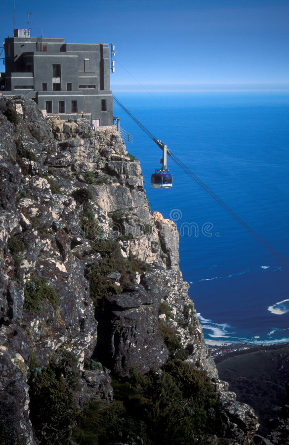 Download Table Mountain Cable Car - Cape Town - South Africa Stock Image - Image of blue, south: 5424779