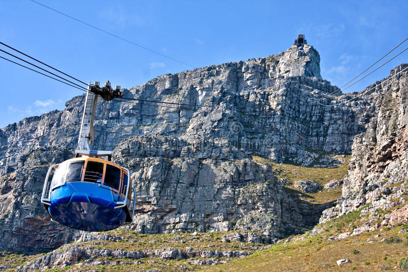 Table mountain cable way stock photos