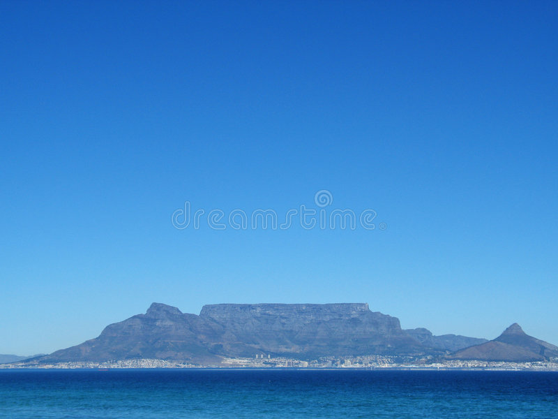 Table mountain Cape Town. South Africa stock image