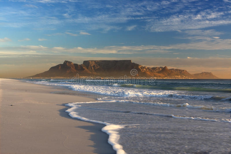 Table Mountain Cape Town. View of table mountain cape town southafrica royalty free stock photo