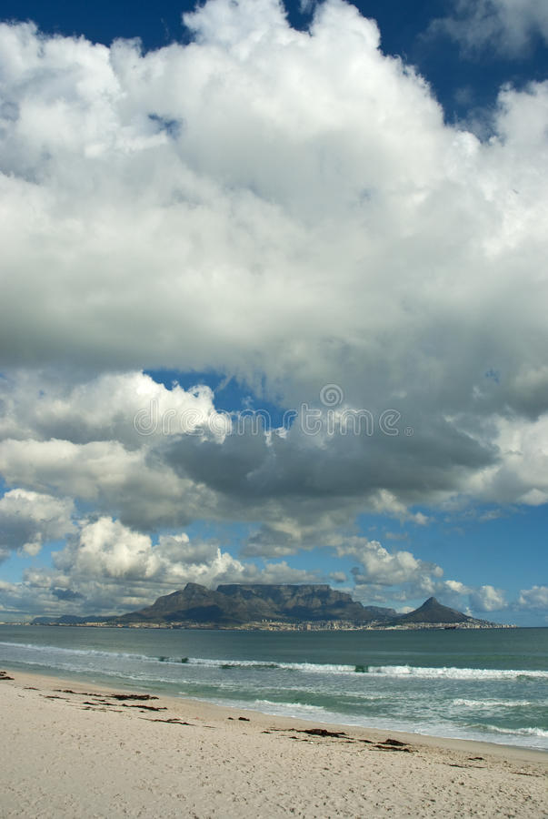 Table mountain with clouds royalty free stock photo