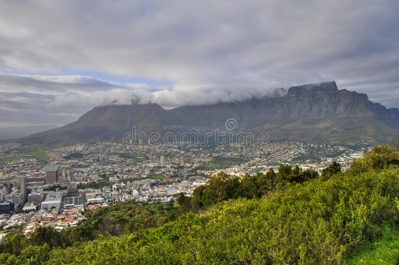 Download Table Mountain Covered By Tablecloth In Cape Town Stock Photo - Image: 12672014