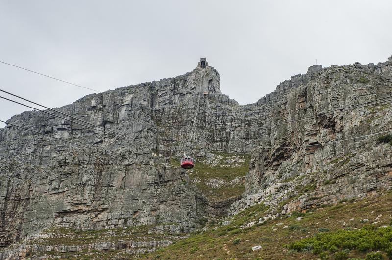 """Table Mountain. English: , Tafelberg means """"City of Cape"""". It is South Africa's Pingdingshan overlooking Cape Town and Table Bay. It stands royalty free stock image"""