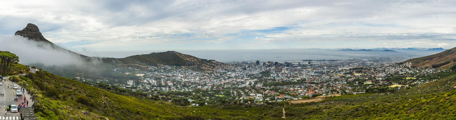 """Table Mountain. English: , Tafelberg means """"City of Cape"""". It is South Africa's Pingdingshan overlooking Cape Town and Table Bay. It stands stock images"""