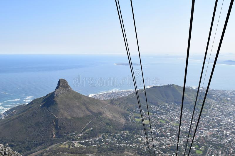 Table mountain Cape Town south Africa. Table mountain national park panoramic view awesome beach Cape Town south Africa stock photos