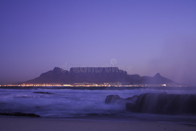 Table Mountain Night Stock Image