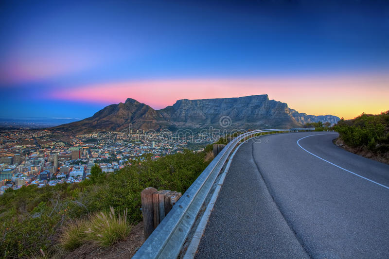 Download Table Mountain Road stock image. Image of green, landscape - 14120783