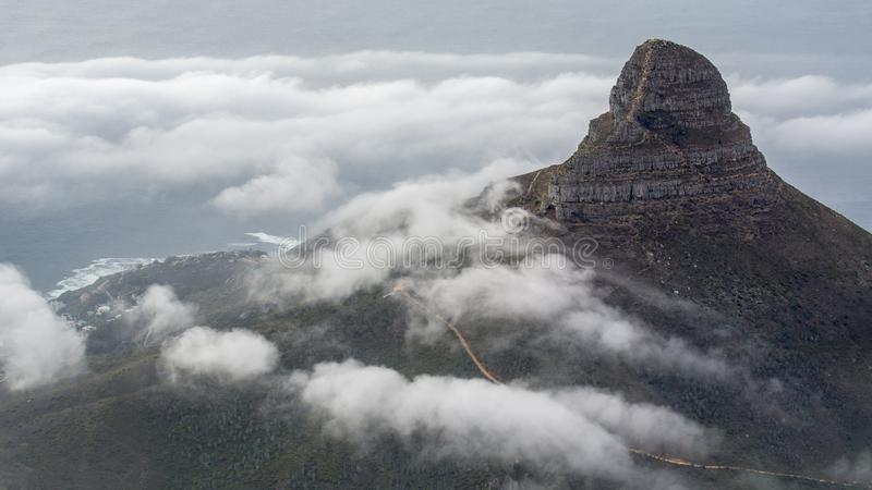 """Table Mountain. English: , Tafelberg means """"City of Cape"""". It is South Africa's Pingdingshan overlooking Cape Town royalty free stock photo"""