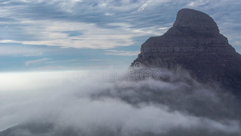 """Table Mountain. English: , Tafelberg means """"City of Cape"""". It is South Africa's Pingdingshan overlooking Cape Town and Table Bay. It stands stock photo"""