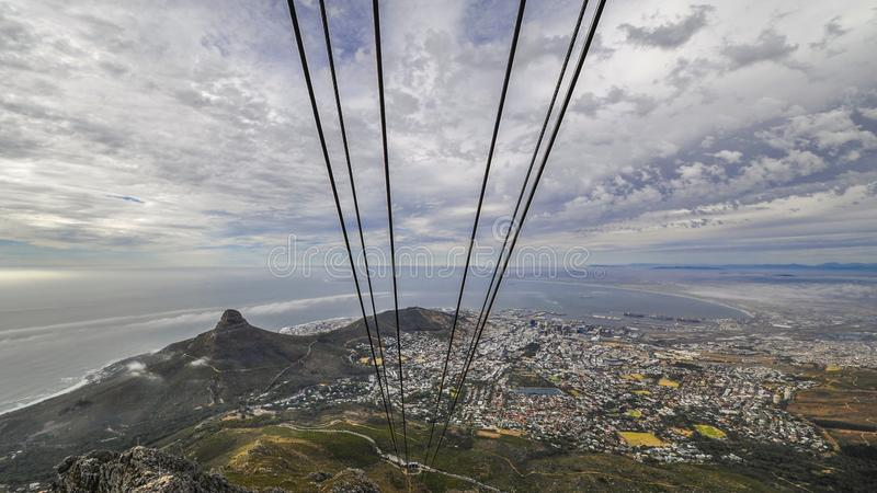 """Table Mountain. English: , Tafelberg means """"City of Cape"""". It is South Africa's Pingdingshan overlooking Cape Town and Table Bay. It stands royalty free stock photography"""