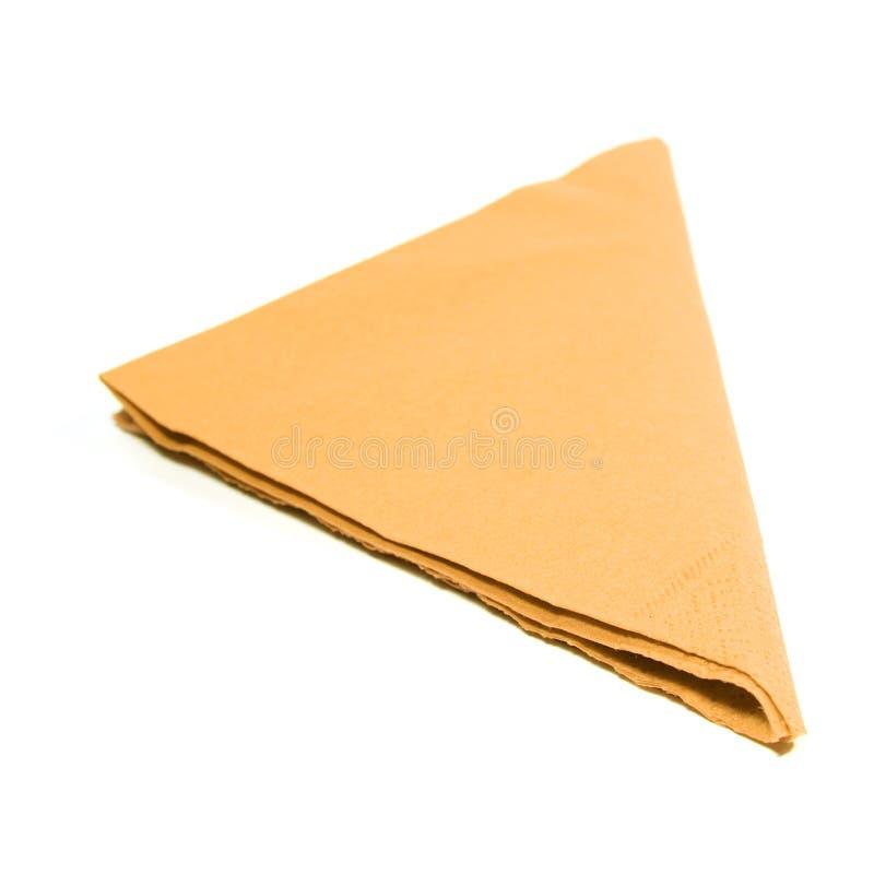 Table napkin on white background royalty free stock image