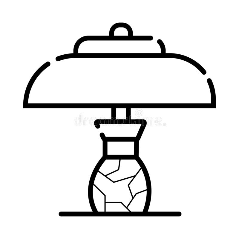 Table office lamp icon royalty free illustration