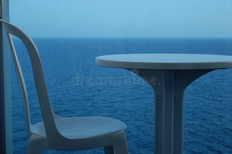 Download Table for one stock photo. Image of solitude, water, table - 49708