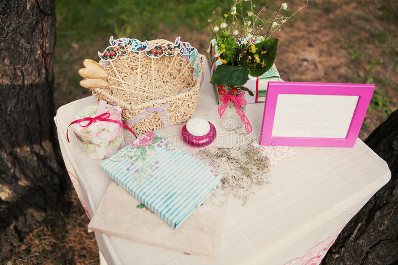 Table Outdoors royalty free stock photo