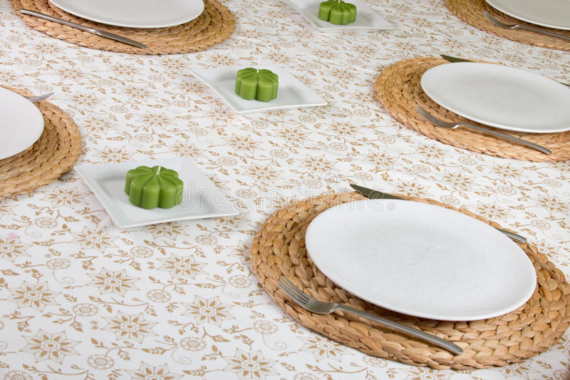 Download Table ready laid stock image. Image of silver, empty - 22681029
