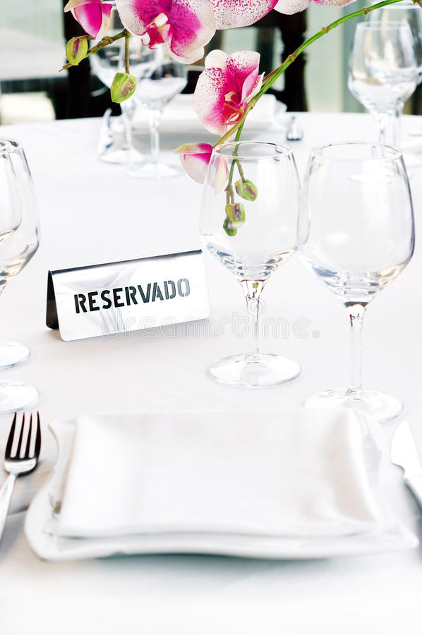 Table Reserved royalty free stock images