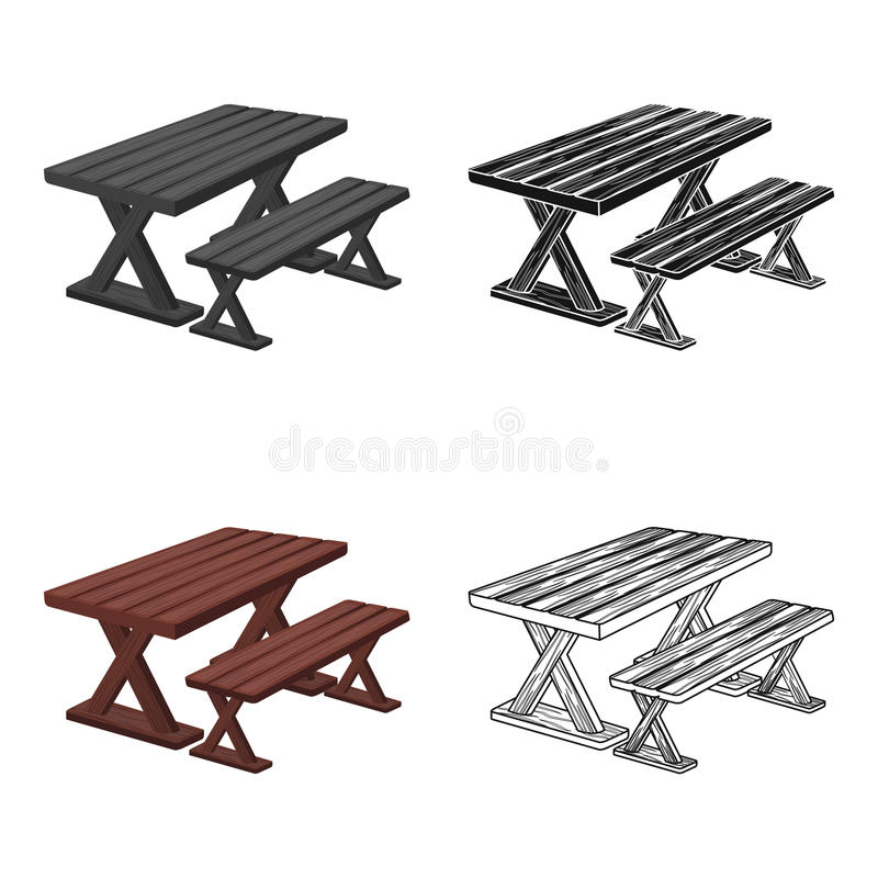 Table for rest.BBQ single icon in cartoon style vector symbol stock illustration web. Table for rest.BBQ single icon in cartoon style vector symbol stock stock illustration
