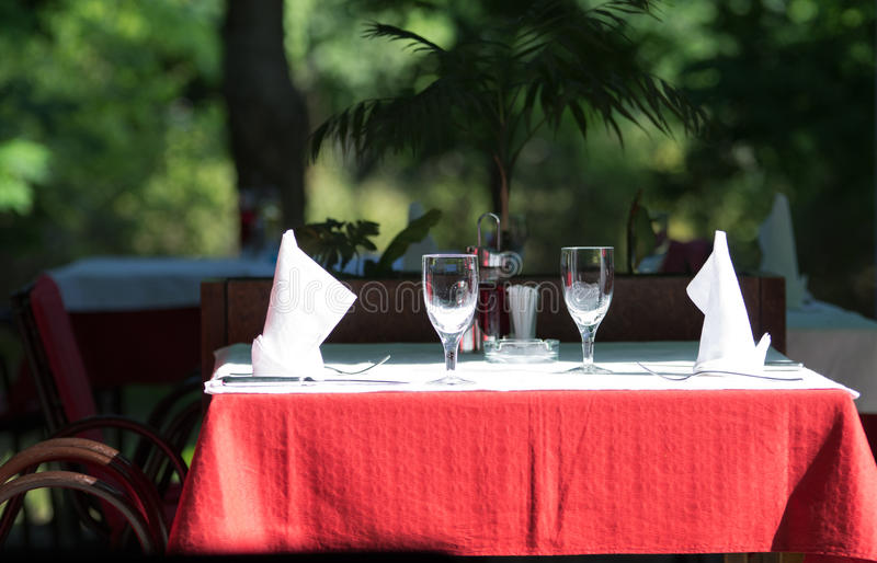 Download Table in restaurant stock photo. Image of clean, dishes - 32176004