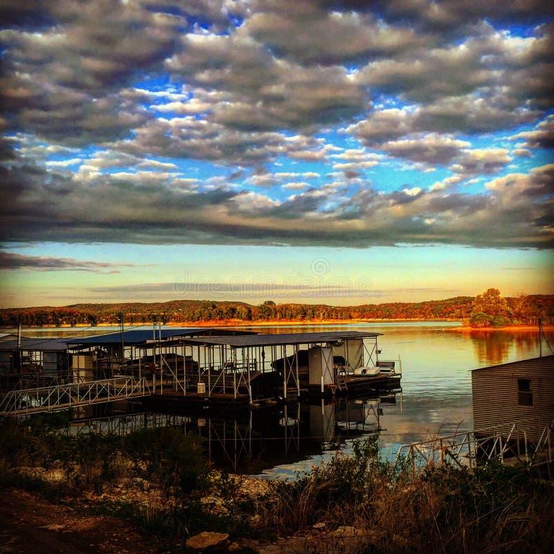 Table Rock Lake Sunset stock image