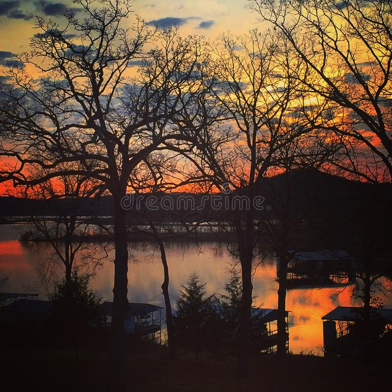 Table Rock Lake Sunset royalty free stock photo