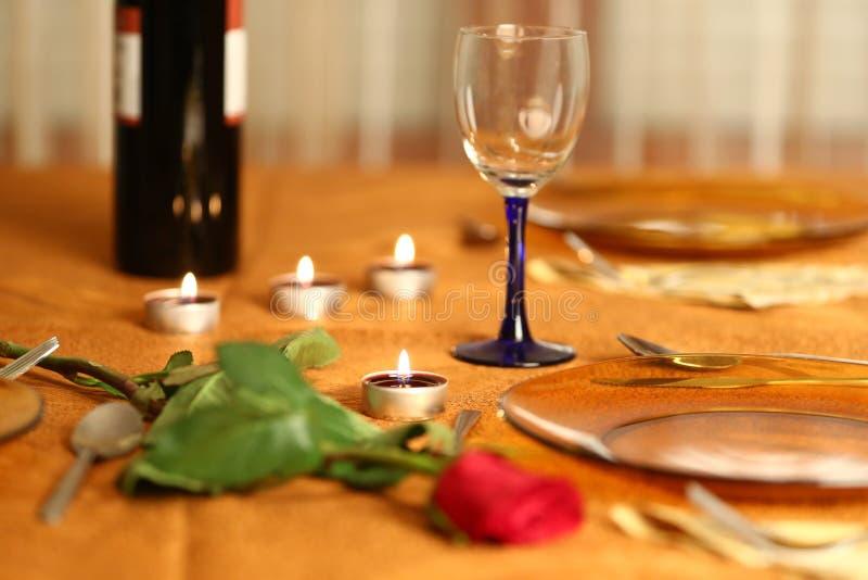 Table romantique image stock