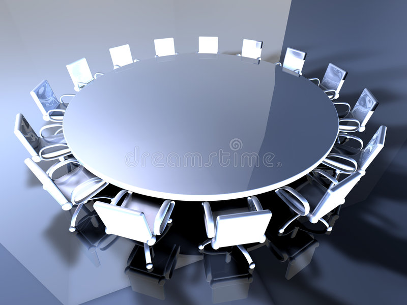 Table ronde illustration stock