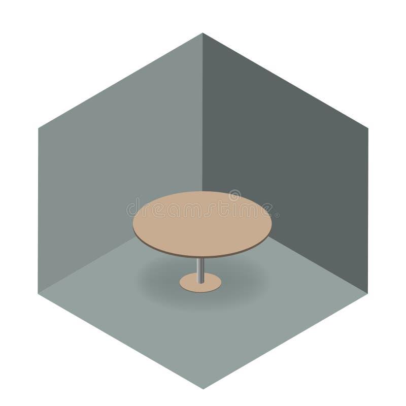 Table ronde dans une chambre photos stock