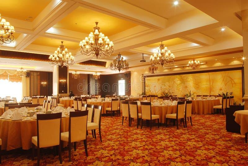 table ronde de banquet photo stock