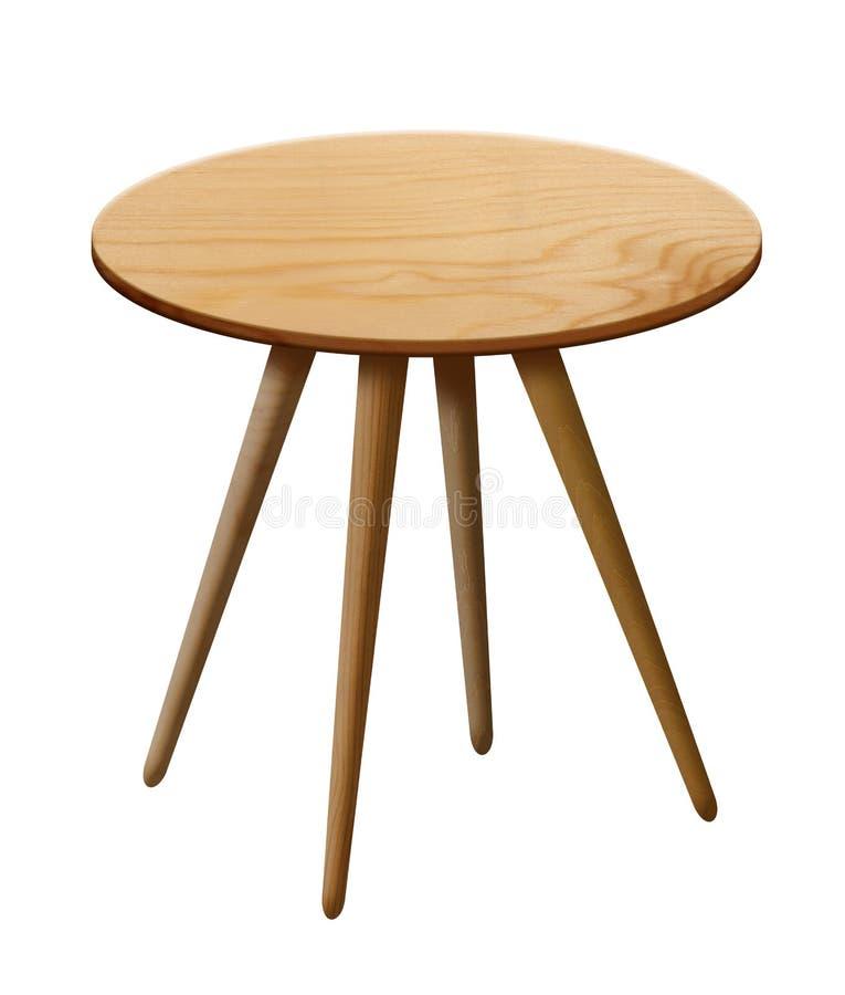 Table ronde en bois images libres de droits