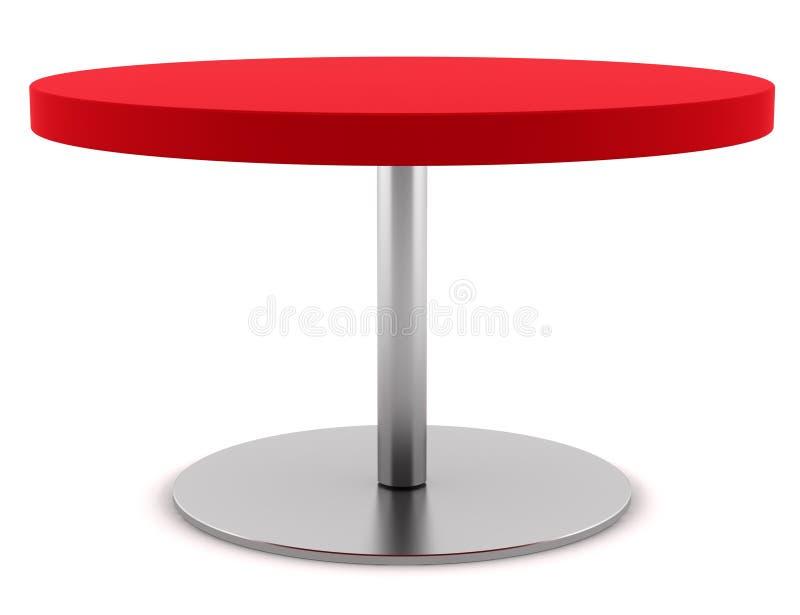 table ronde rouge moderne d 39 isolement sur le blanc illustration stock illustration du type. Black Bedroom Furniture Sets. Home Design Ideas