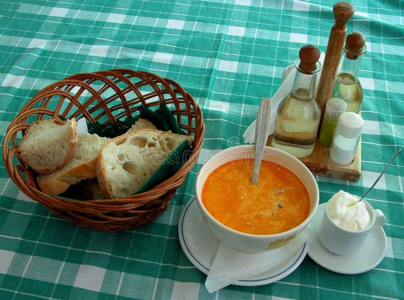 Table Roumaine De Restaurant Photo libre de droits