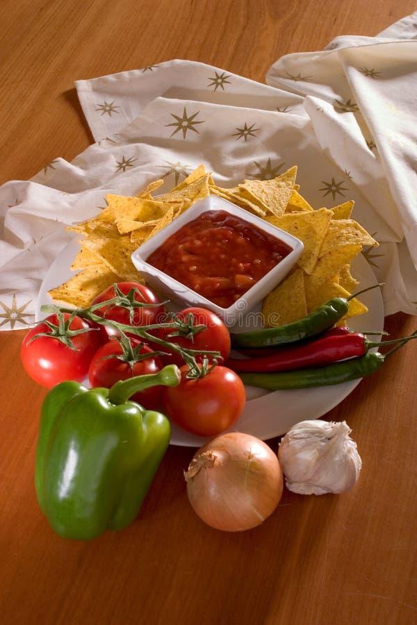 Table salsa royalty free stock photo
