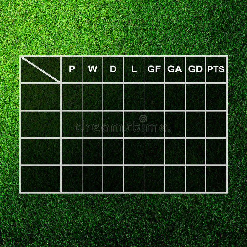 Download Table score on grass field stock illustration. Illustration of illustration - 24926964
