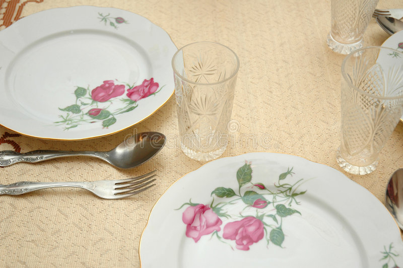 Download Table Served Stock Photos - Image: 1414603