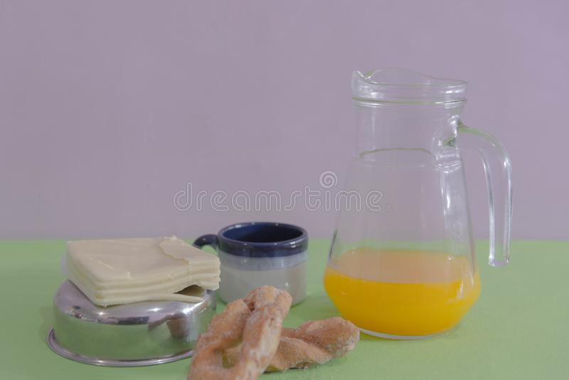 Table served for afternoon breakfast 01 royalty free stock photography