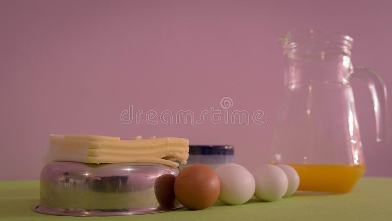 Table served for afternoon breakfast 06 royalty free stock photos