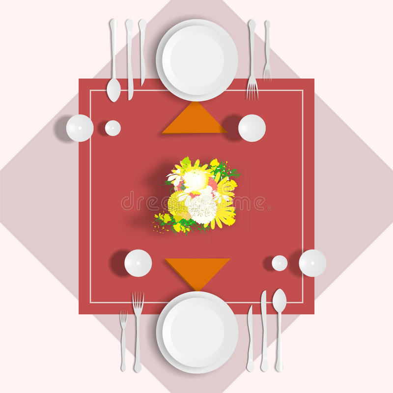 Table servie illustration stock