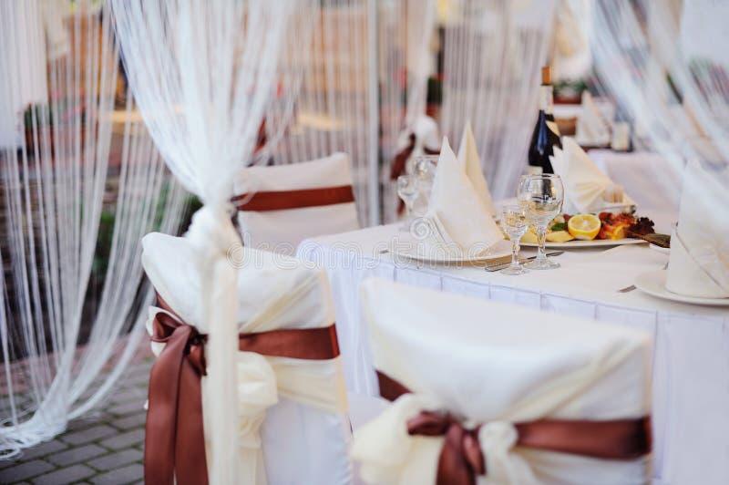 Table servie image stock
