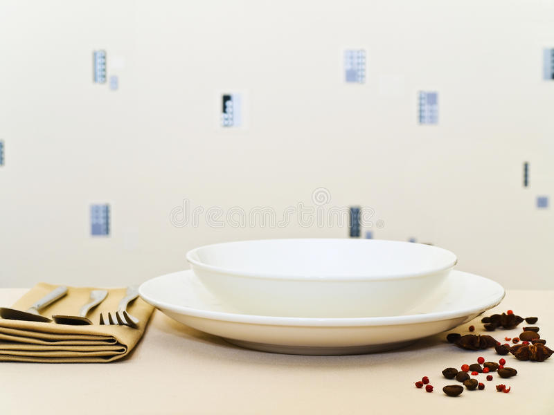 Download Table Serving Royalty Free Stock Image - Image: 12158446