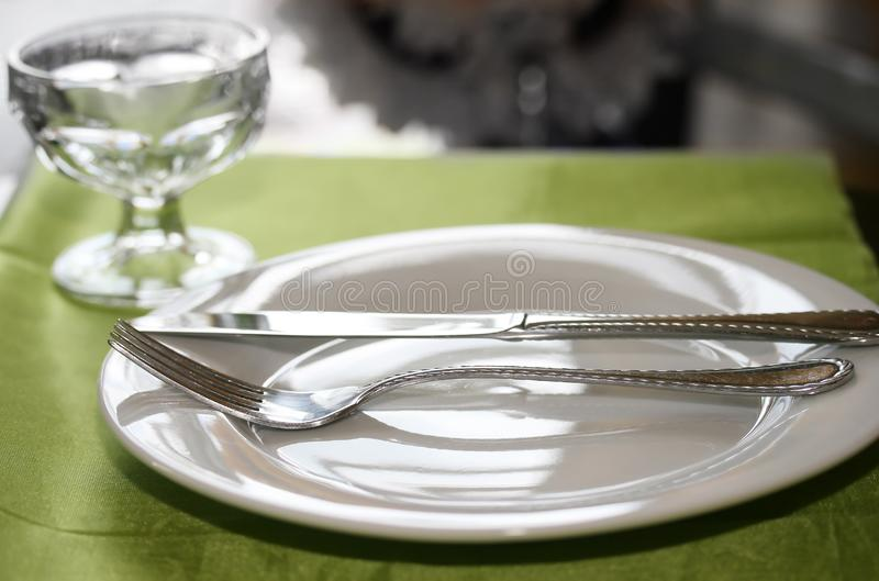 Table Set For Dinner Stock Images
