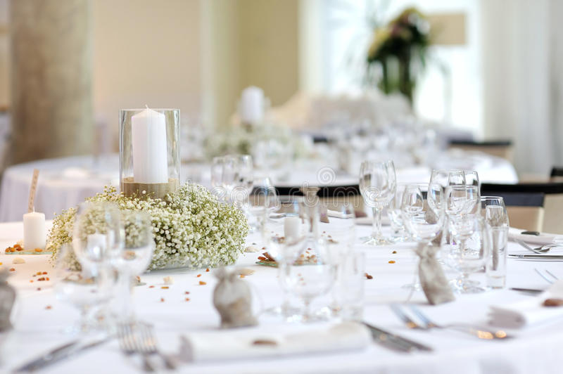 Download Table Set For An Event Party Stock Image - Image: 17899671